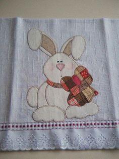 Resultado de imagem para artesanato coelho para pascoa em patchwork