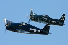 Grumman F6F Hellcat and the F8F Bearcat