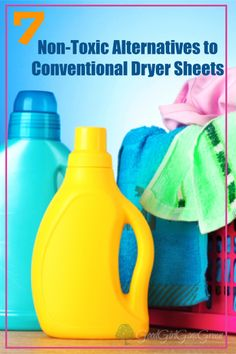 Did you know that fabric softener products are concentrated with harmful chemicals & fragrances? Try these non-toxic alternatives to conventional dryer sheets.
