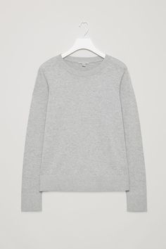 Front image of Cos cotton-knit jumper in grey