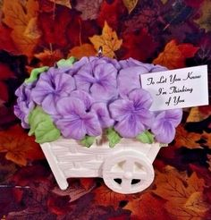"""Limited Mint In Box 2014 Hallmark Keepsake Ornament """"Pansies Stand For Thoughts"""""""