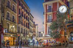 Madrid, Street View, Urban Landscape, Nocturne, Street, Scenery, Photos, Night, Sevilla Spain