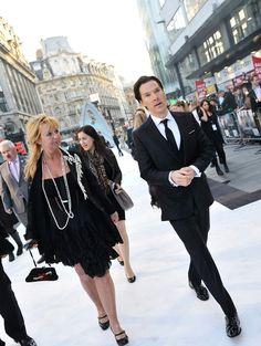 Benedict Cumberbatch. On the way to Star Trek premiere...
