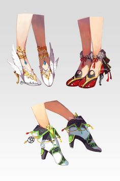 And more fancy shoes. and more fancy shoes character design Fashion Design Drawings, Fashion Sketches, Dessin Animé Lolirock, Drawing Anime Clothes, Poses References, Anime Dress, Fancy Shoes, Ensemble Stars, Character Outfits