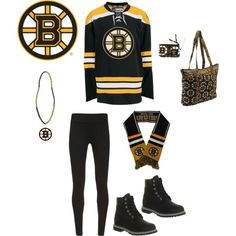 """ultimate Boston Bruins fan outfit"" by krrisstiinaa on Polyvore"