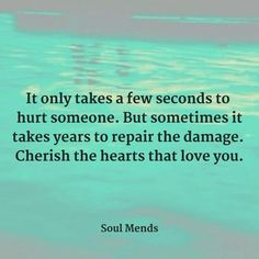 It only takes a few seconds to hurt someone. But sometimes it takes years to repair the damage. Cherish the hearts that love you. Cherish Life Quotes, Life Quotes Love, Family Quotes, Love Hurts, That's Love, Gods Princess, Cherish Every Moment, Joy Of Life, Funny Picture Quotes
