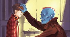 """Yondu and Peter- """"he may be your father but he wasn't your daddy"""""""