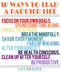 10 Ways to Lead a Happy Life
