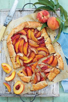 Recipe: Spiced Peach Galette Arrange slices in a single layer so they bake evenly. Leave a 1 ½-inch border around the edges.