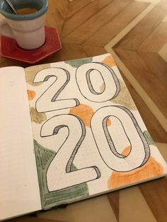 2020 Cover Page! I can't believe it's here already! Bullet Journal Contents, Creating A Bullet Journal, Bullet Journal Cover Ideas, January Bullet Journal, Bullet Journal Lettering Ideas, Bullet Journal Banner, Bullet Journal Notebook, Bullet Journal Aesthetic, Bullet Journal School