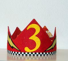 Rayo McQueen cumpleaños corona por Bobotz en Etsy