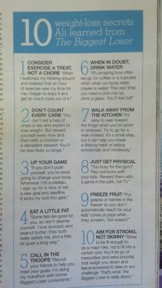 Biggest Loser Tips :)