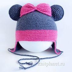 Предлагаем вашему вниманию мастер-класс по вязанию крючком шапочки Минни Маус для маленькой девочки. Минни Маус - персонаж знаменитого мультфильма Диснея, подружка Микки Мауса. Знаменита любовью к нарядам и ярко-розовым большим бантом.