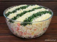 Sałatka okazyjna Food Hacks, Tofu, Grilling, Rice, Ethnic Recipes, Diet, Recipe, Salads, Food Food