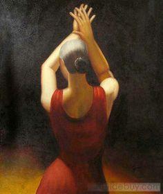 Spanish Paintings | spanish dancer oil painting