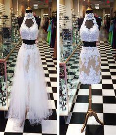 High Neck Lace Homecoming Dresses Evening Dresses Bridesmaid Dresses