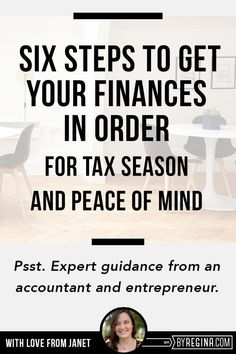 How to get your finances in order for tax time with Janet LeBlanc!