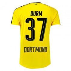 96339f959dd Dortmund Season Home Soccer Jersey Shirt Durm