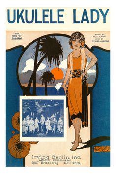 Ukulele Lady, sheet music cover