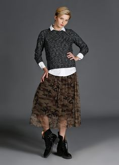 Camouflage Long Skirt