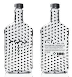 Here you go @Cynthia Pomerleau (The Packaging Girl) a vodka bottle with a bit of a creepy #packaging twist : ) PD