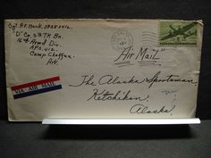 APO 412 CAMP CHAFFEE, FORT SMITH, ARKANSAS 1944 WWII Army Cover 5th TK Bn