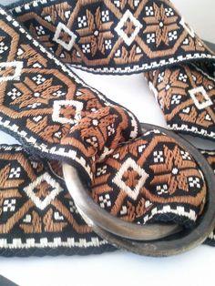 Vintage Woven Jacquard Ribbon Bohemian Belt by JulesCristenVintage