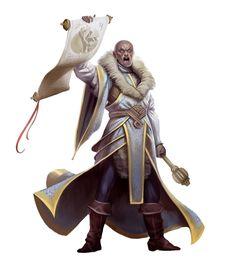 Human Cleric Harbringer - Pathfinder PFRPG DND D&D d20 fantasy