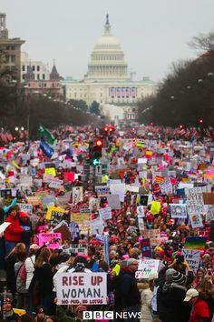 Millions of people took to the streets all over the world on Saturday to protest against Donald Trump becoming American president. They were hoping to raise awareness of women's rights.