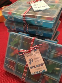 I Party, Party Favors, Underwater Party, Tackle Box, Box Cake, Cake Toppers, Birthdays, Gift Wrapping, Candy