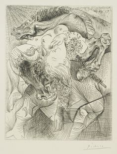 Pablo Picasso (1881 - 1973) FEMME TORERO, c.1934. Etching from the Vollard Suite,  29.5 x 23.7 cm.