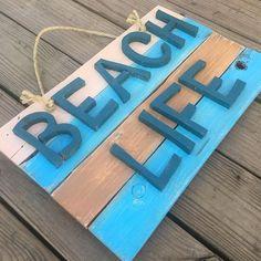 Beach Life Sign Beach House Sign Beach Life Decor Rustic