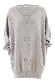 heart sweater grey - www.kristinevikse.com