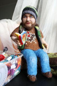 Needle felted portrait doll von FforFelt auf Etsy