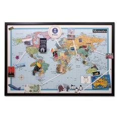 Pin your journeys world map. i think i may just do this :)