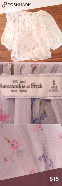 Abercrombie & Fitch Sheer Floral Blouse Gently used and in good condition! Abercrombie & Fitch Tops Blouses