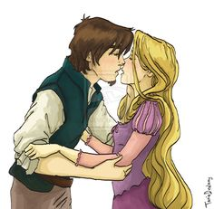 Flynn and Rapunzel by Dralamy.deviantart.com on @deviantART