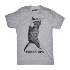 c0a202be Crazy Dog Funny T-Shirts - Mens Purrr-Ups Funny Cat Working Out Pull Ups  Fitness Hilarious Kitten T shirt - Walmart.com