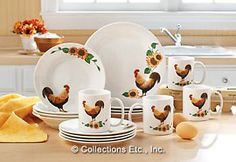 Rooster dishes