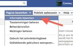 Facebookpagina claim eigen naam.