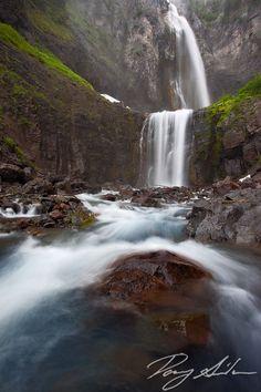 Comet Falls, Mt. Rainier National Park.