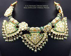 Diamond Polki | Vilandi | Polki | Uncut diamonds | Old cut diamonds | Traditional | Indian | Bridal | Wedding | Kundan Meena | Jadau | Jadtar | Hallmarked | Gold | Enamel | Jewelry | Jewellery | Necklaces | Necklace Sets #indiannecklace Gold Jewelry Simple, Rose Gold Jewelry, Enamel Jewelry, Gold Jewellery, Bridal Jewellery, Urban Jewelry, Modern Jewelry, Uncut Diamond, Diamond Cuts