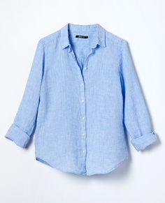 Woven linen shirt | The Scandinavian It Girls | www.ginatricot.com | #ginatricot