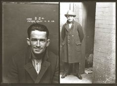Mugshots from the 1920s: Patrick Riley, 1924. Convicted in October 1924 of making counterfeit coins, and of having a coining instrument (ie a mould) in his possession, for which he was sentenced to two years imprisonment with hard labour.