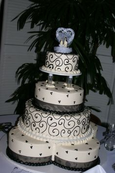 Our Black & White Penguin Wedding Cake, It was a Beautiful & Yummy Cake!!!