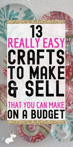 Money Making Crafts, Crafts To Make And Sell, Diy Crafts For Kids, Fun Crafts, Extra Cash, Extra Money, Dollar Store Crafts, Dollar Stores, Diy Gifts To Sell