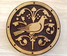 SCA Wood Block: 13th Century Dove from St Chapelle Woodcut for   Etsy