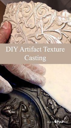 DIY Artifact Texture Casting - Made By Barb - silicone mold of antique relic Plaster Crafts, Plaster Art, Concrete Crafts, Concrete Projects, Resin Crafts, Cement Art, Concrete Art, Concrete Molds, Concrete Furniture