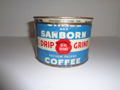 A personal favorite from my Etsy shop https://www.etsy.com/listing/248181787/sanborn-coffee-tin