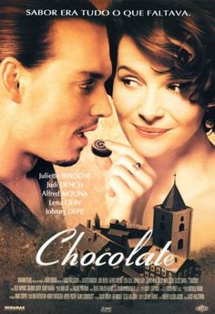 Chocolat starring Juliette Binoche, Johnny Depp, Judi Dench, Alfred Molina and Lena Olin Johnny Depp Chocolat, Lena Olin, Film Movie, 10 Film, See Movie, Movie Cast, Comedy Movies, Horror Movies, Movie Posters